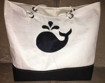 Large Sail Cloth Tote Bag