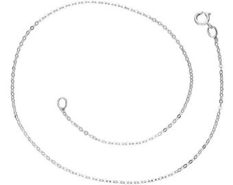 9ct White Gold / Yellow Gold Anklet