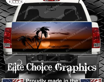 Tropical Sunset 1 Truck Tailgate Wrap Vinyl Graphic Decal Sticker Wrap