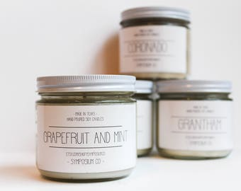 Grapefruit and Mint Soy Candle