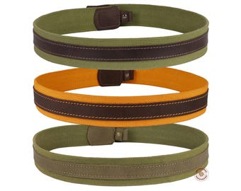 Shotgun Rifle Sling Strap Canvas Leather Stitched Hunting Shooting Tactical