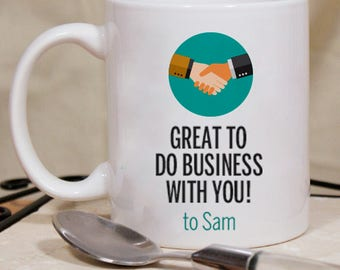 Great to Do Business with You Personalized Mug With Name Printed On It