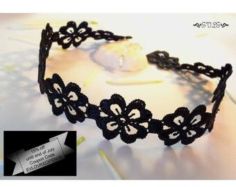 15% off Limited Time Lace Choker, Black Lace Choker, Choker Necklace, Lace Necklace, Gothic Lace Choker, Victorian Lace Choker, Gift for her