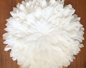 Juju Hat Style Wall Hanging - Goose Feather 60-70cm White **PRE-ORDER**