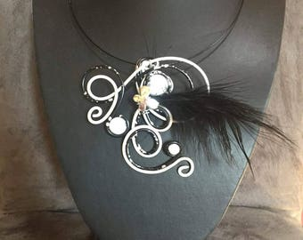 Bennett black and white fashion necklace