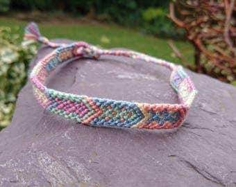 Pastel Multicolour Arrow Anklet/Armband, Macrame Anklet, Macrame Armband, Woven Anklet, Woven Armband, Tribal Anklet, Tribal Armband, Arrow