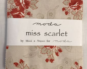 Moda Miss Scarlet Charm Pack by Minick & Simpson