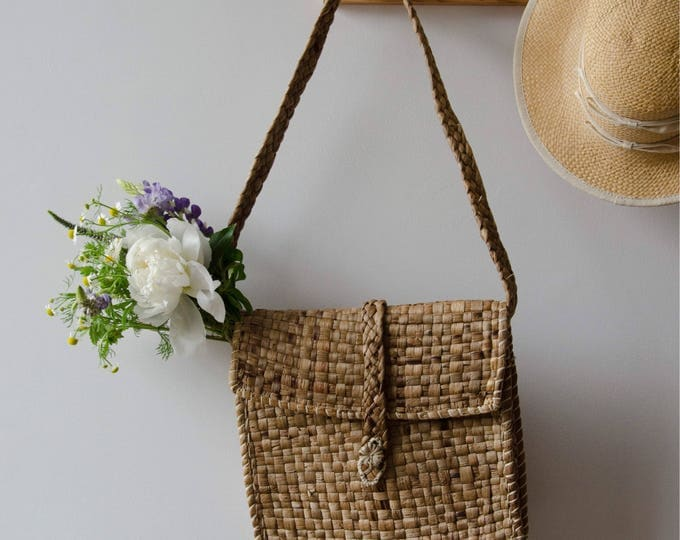 Natural Fiber Shoulder bag, long strap