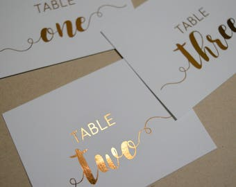 Custom Foil Place Cards | Set of 10 | Calligraphy | Handmade