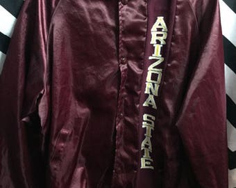 Satin Jacket Arizona State Sun Devils W/knit Letters