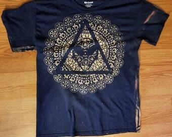 Space Jesus Bleach Dye T-Shirt