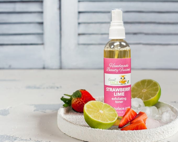 Skin Brightening Exfoliating Strawberry Lime  Toner Mist 4oz