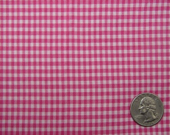 4 yards pink and white vintage ginham fabric