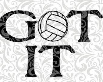 Got It, Volleyball, Bump, Set, Spike, ACE,  SVG Cut File