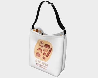 """A trip to the bakery"" shoulder bag"