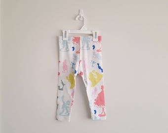 CUSTOM MADE - Girls Leggings - Print Leggings - Arty Leggings - Acitve Wear - Tights