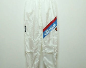 Vintage Ellesse Spell Out Bottom Track Casual Medium Size