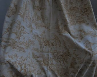Beautiful antique panel of french fabric Toile de Jouy