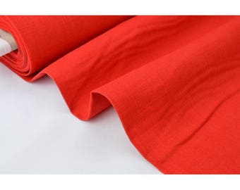 .X1m red linen fabric