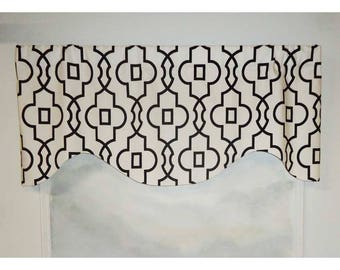 Premier Prints Black/White Bordeaux in Shadow Valance
