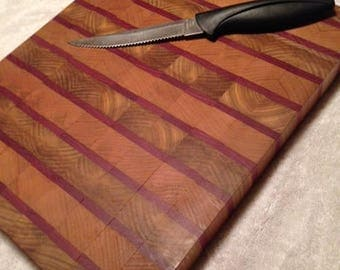 Handcrafted wood cutting or serving board
