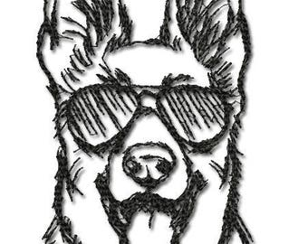 Machine Embroidery Design in Photo Stitch Technique - Dog_ Embroidery dog 6*8 AD 005