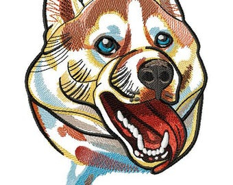 Machine Embroidery Design - Dog   Embroidery Dog  7*10, 8*12