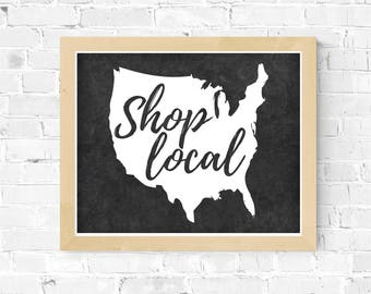 Shop Local Tee SVG Digital Download Made in America gift for her farmer's market svg tshirt supplies cricut cut file farming svg