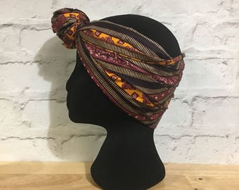 African head wrap, African head scarf, African print head wrap, African bandana headwrap, batik headwraps, UK free shipping