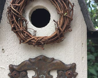 HOME AGAIN !!! ........WHITE Hanging Birdhouse
