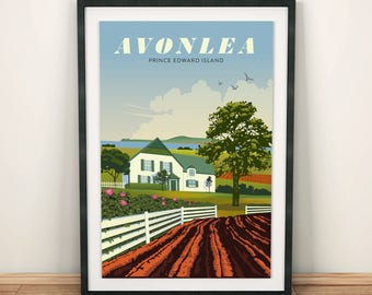 Anne of Green Gables, Avonlea | Travel Poster | Unframed