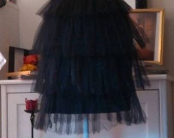 Small black silk and tulle, very beautiful and unique dress...