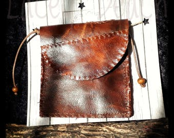 Leather Wallet with neck cord.