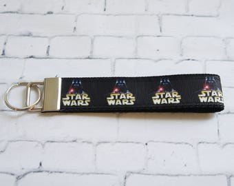 Star wars key Fob, Dark Vador key chain, wristlet keychain, Kids key FOB, Star Wars ribbons. Kids, Gift.