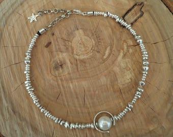 Pearl Imitation Short Necklace