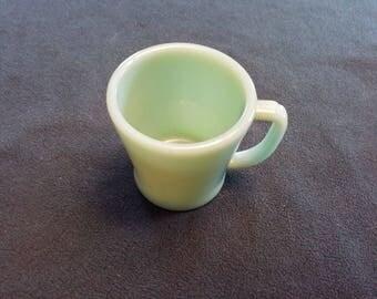 Vintage (10) available Fire King fireking restaurant Jadeite jadite D handle coffee mug cup EUC