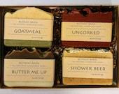 Soap Gift Set, 4 Large Organic Soaps - 4.5 oz soaps - Mother's Day Gift, Gift for birthday, Gift for Mom, Gift for Women, Gift for Men