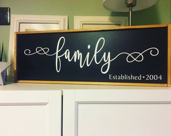 SALE Wooden established sign wall farmhouse style