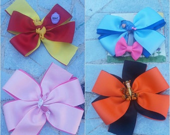 Winnie the pooh hairbows, winnie the pooh hair bows, piglet hairbow, eeyore hairbow, tiger hairbow
