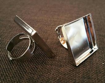 Silver adjustable metal ring
