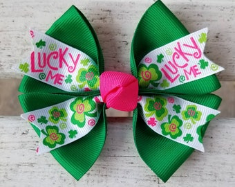 St. Patricks Day Hair Bow (4 inch)