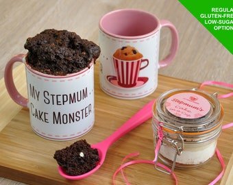 stepmum mug gift cake, step mum, stepmother, present for stepmum, baking stepmum, mothers day, stepmums birthday, mug for stepmum, baking ki