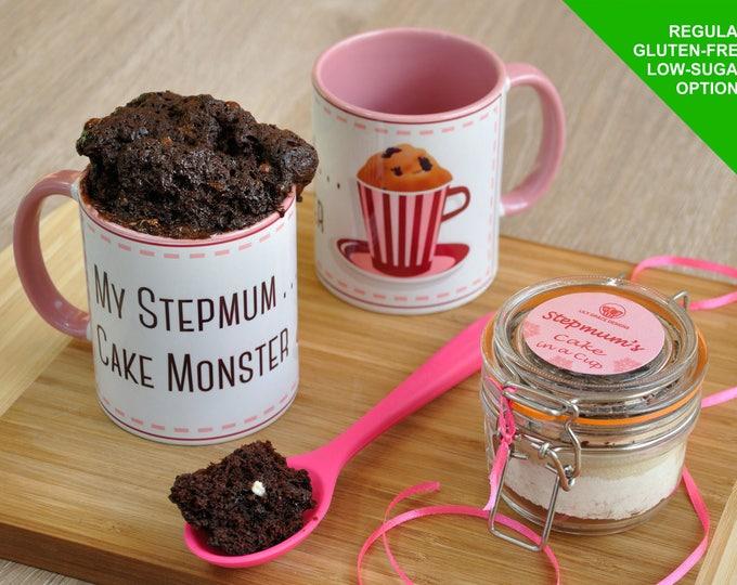 stepmum mug gift cake, step mum, stepmother, present for stepmum, baking stepmum, mothers day, stepmums birthday, mug for stepmum, baking ki