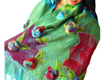 Nuno felted scarf Felted wool scarf Felted scarf Felted wool scarves Felted shawl Nuno felt scarf Felted shawls  Nuno felted shawls Eco felt