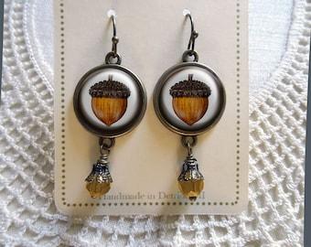 Acorn earrings- Thanksgiving Earrings / Fall Earrings
