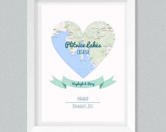 Personalised Wedding/Engagement Print | Art Print | A4 or A3 |  Unframed - Free Shipping in Australia