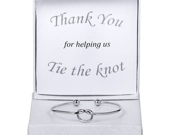 Bridesmaid Gift, Knot Bracelet, Bridesmaid Bracelet, Bridesmaid Proposal, Love Knot Jewelry, Tie the Knot, Tie the Knot Bracelet, Love Knot