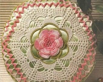 45. Romantic pillow vintage crochet pattern in pdf