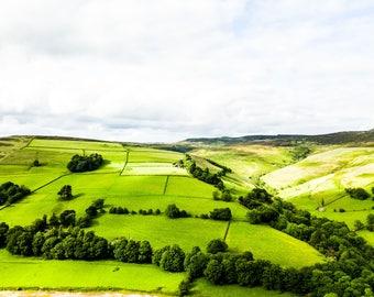 Peak District Photography - Landscape Photography - Fine Art - Drone Photography - Landscape Print - Drone Photo - Rolling Hills - 0168