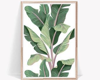 Tropical Print,Palm Leaf Print,Leaf,Palm Leaf,Printable,Digital Print,Tropical Leaves,Leaves,Art Prints,Tropical,Wall Art,Palm Leaves,Print